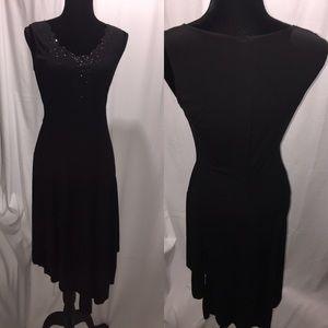 P S PerSeption  Black dress with beading SZ: L